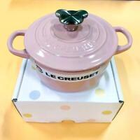 Le Creuset Cocotte Rond Pot Chiffon Pink 14cm 0.9L kitchenware Bear Knob NEW