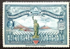 Nicaragua 1940 50th Anniversary Of Pan American Union Single Issue - 1v MNH