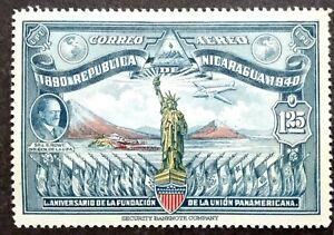 Nicaragua 1940 50th Anniversary Of Pan American Union Single Issue - 1v MNH
