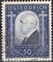 ZOR-0120 AUTRICHE 1932 N°419 IGNAZ SEIPEL OBL CV 35.00€