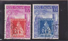 ITALIA REPUBBLICA 1951 TOSCANA 2 VALORI USATI LUSSO