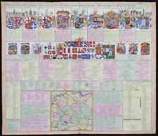 """Kupferstichkarte """"Kort Begryp von Duytsland"""", Reichsstände & Wappen"""