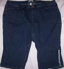 "Womens 26 VENEZIA Denim Jean Shorts Trendy With Glitter 44"" Waist"
