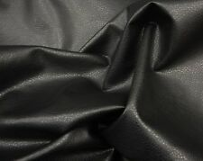 """Vinyl Faux Leather Black Ford Upholstery Fabric by the yard 54"""" wide"""