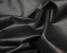 "Vinyl Faux Leather 54"" Black Ford Upholstery Fabric 5 yards 54"" Wide"