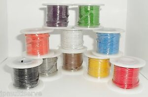 One 25ft Roll Electrical Wire 22 Gauge Solid Core 22awg