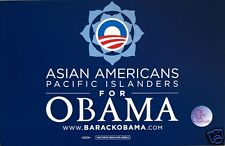 "Official ""Asian Americans"" Obama Rally Sign - Placard"