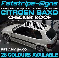 CITROEN SAXO GRAPHICS CHECKER ROOF DECALS STICKERS STRIPES 1.4 1.5 1.6 VTR VTS
