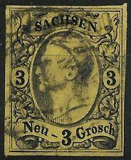 SACHSEN 1855...MiNr. 11 ...Johann I...3 Ngr....aktueller BPP BEFUND