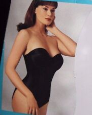 Smoothie Firm Control Minimizer Low Back Strapless Body Briefer 1570 Black 34C