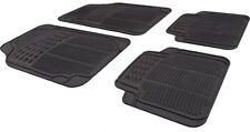 Car Black Rubber Front/Rear Floor Mats Nissan Qashqai 2007-2016