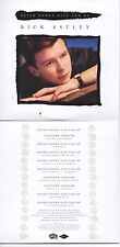 CD SINGLE Rick Astley Stock Aitken Waterman PWLNever Gonna Give You Up Together