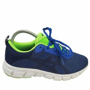 ASICS Youth Boys Gel Quantum Lyte Blue & Neon Green Athletic Sneakers Size 5