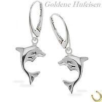 Delphin Ohrklemmen Silber 925er Ohrringe Paar OR 727