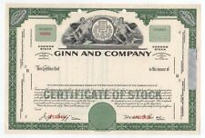 SPECIMEN - Ginn and Company Stock Certificate
