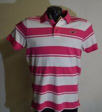 Hollister Original Shirt New Men Size XL Slim Fit Pink and White Striped