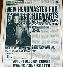 11X17inch New Headmaster Severus Snape aged page. The Daily Prophet Newspaper