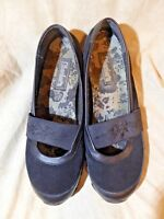 🥿 Skechers Comfort Mary Jane Walkers sz 9 M Black Leather & Suede; Accents