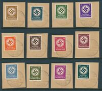 Lot Stamp Germany Official Mi 166-77 Sc O92-103 1942 WWII 3rd Reich CTO