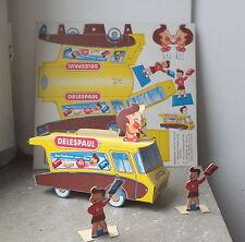 Carton a découper Camion publicitaire Delespaul