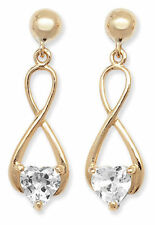 Heart Yellow Gold Drop/Dangle Fine Earrings