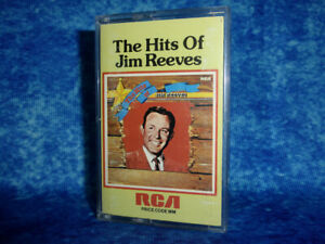 The Hits Of JIM REEVES - RARE AUDIO CASSETTE TAPE ALBUM - 1977 - Country music