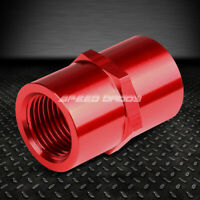 """FEMALE 1/8"""" NPT PIPE PIPING COUPLER JOINER RED ANODIZED ALUMINUM FITTING ADAPTER"""