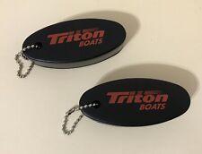 Triton Boats BLACK Key Floater keychain saver lot of 2