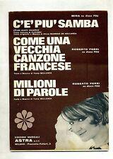 C'È PIÙ SAMBA-COME UNA VECCHIA CANZONE FRANCESE-MILIONI DI PAROLE#Spartito Mina