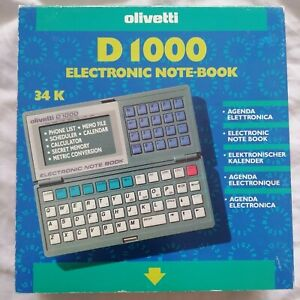 Vintage Olivetti D1000 Electronic Notebook Box Manual - Used Working VGC