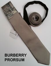 "New BURBERRY PRORSUM slim tie pale gold big ben london narrow skinny 2.25"" NWT"