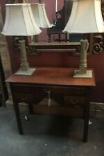 Classic Oak Lowboy Lamp/ Hall Table