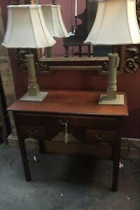 Classic Oak Lowboy Lamp/ Hall Table