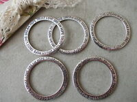 10x Round Ring Love Dream Hope Trust Silver Tibetan Metal Charms,Large Statement