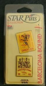 Barcelona Bound Basketball Star Pins Collection Dream Team Magic Olympics 1992