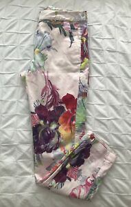 TED BAKER Size 1 Floral Trousers