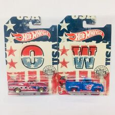 Hot Wheels Stars and Stripes 2018 56 Ford Truck and Chevrolet C10 New