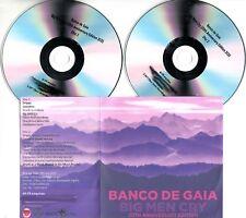 BANCO DE GAIA Big Men Cry 20th Anniversary Edition 2017 UK 17-trk promo test 2CD