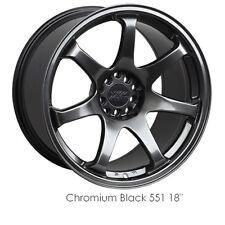 XXR 551 18x8.75 +36 5x100 5x114.3 Chromium Black NEW Full Set (4) Wheels