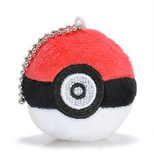 "2.8"" Pokemon Pikachu Poke Ball Anime Soft Toy Stuffed Plush Doll with Keychain"