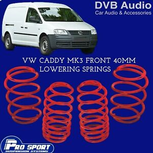 ProSport 40mm Front Lowering Springs for VW Caddy Mk3 UK Seller 121802