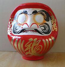 Daruma Doll in red color with a fude-pen / Daruma made at Takasaki : No 3 size