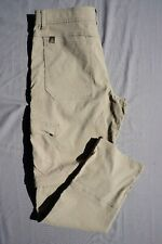 Prana Zion Stretch Convertible Hiking Pants, Shorts. Beige, Men's 32X33. EUC!!
