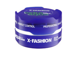 12 x X-Fashion Extra Aqua Hair Wax BLUE Full Force 150ml - Also Sell Red One