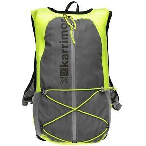 Karrimor 15L Running Reflective Lightweight Hi-viz Yellow Rucksack Backpack Bag