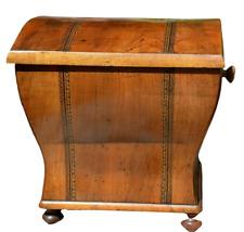 German antique field toilet 19th century walnut birch sawn veneer tied inlaids