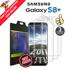 3 Pk Samsung Galaxy S8 Plus Screen Protector Soft Film Full Coverage 3D Curved