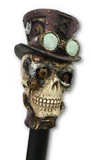"Pacific Giftware Steampunk Gear Skull Cane Walking Stick 36"" Metal & Resin"