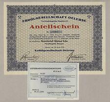 OELERSE Erdölgesellschaft, Hannover – Anteilschein vom 23. Januar 1932 mit LB