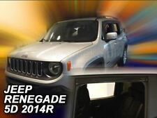 4 Deflettori Aria Antiturbo Jeep Renegade 2014 in poi 5 porte